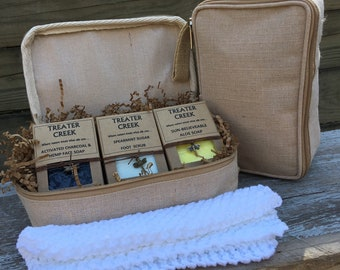 Travel Soap Gift Set - Essential Oils - Womens Gift