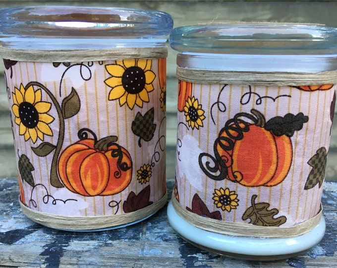 Fall- Pumpkin - Candle - Soy - Wax - Wood Wick