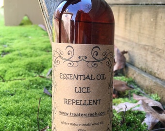 Lice Repellent Hair Spray Made with Essential Oil for Children and Adults