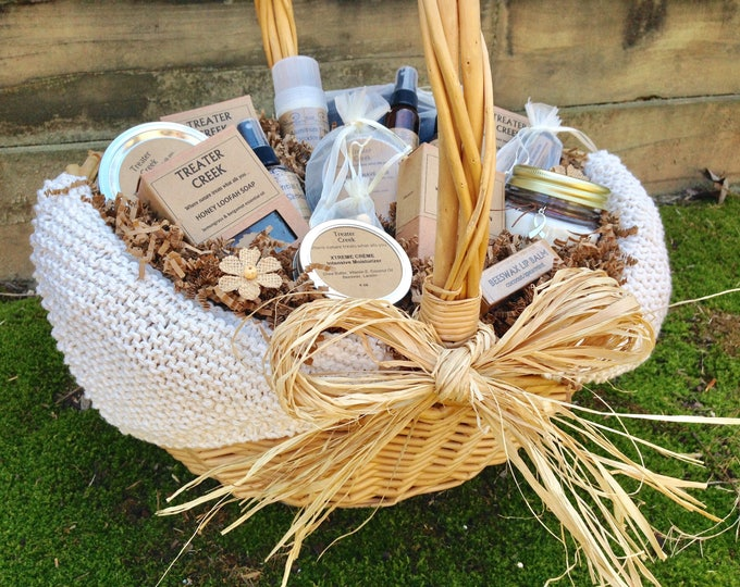 Chemo Gift Basket - Cancer Patient Support - Extra Large in Ivory