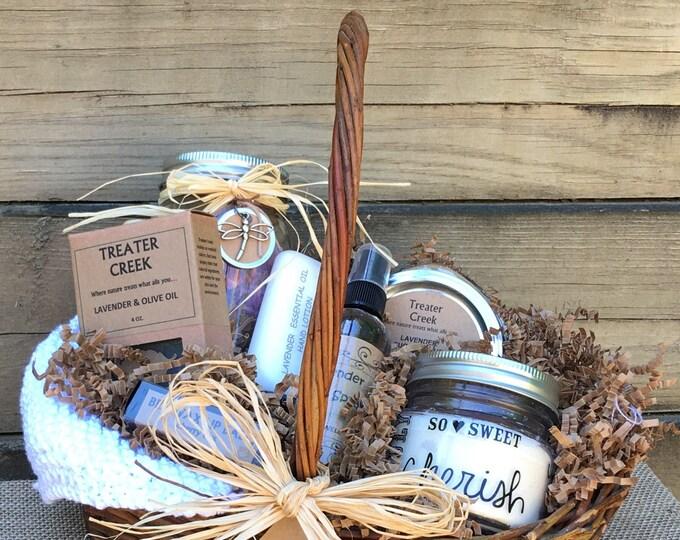 Sachet Gift Basket, Essential Oil Spa Gift