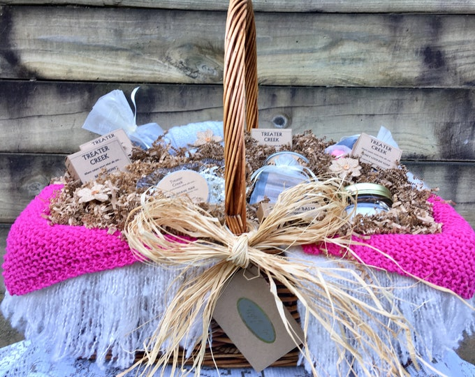 Chemo - Comfort - Gift Basket -  Cancer Patient Support - Extra Large in Pink