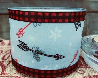 Christmas - Candle - Arrow -Soy - Wax - wood wick