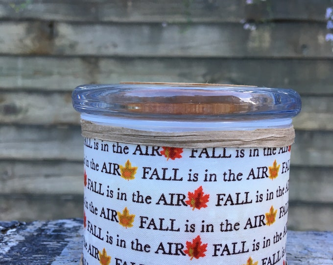 Fall- Leaves - Candle - Soy - Wax - Wood Wick
