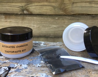 Activated Charcoal Toothpaste Kit