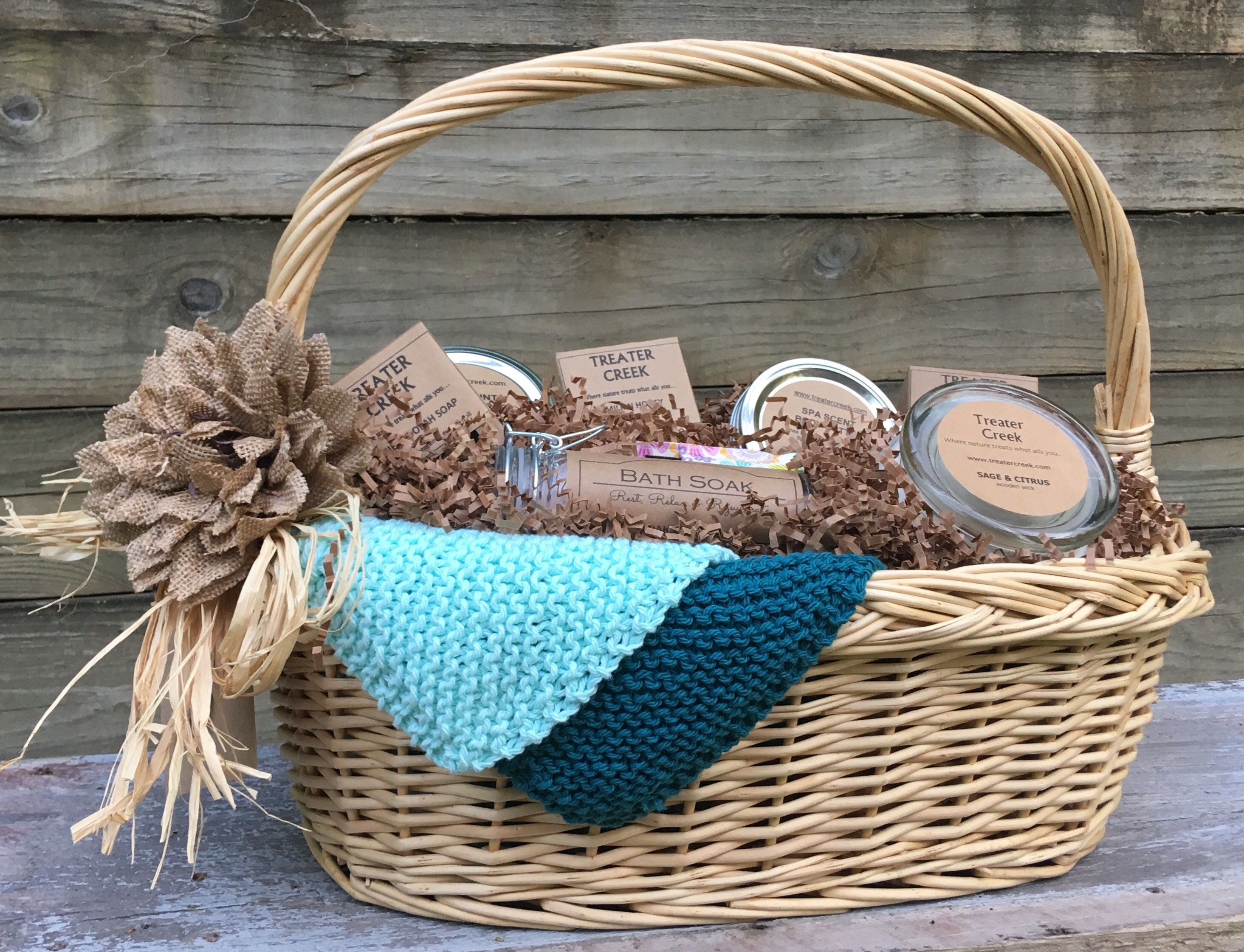 Relaxation Gift Basket - Spa - Relaxation - Bath and Body - Soy ...