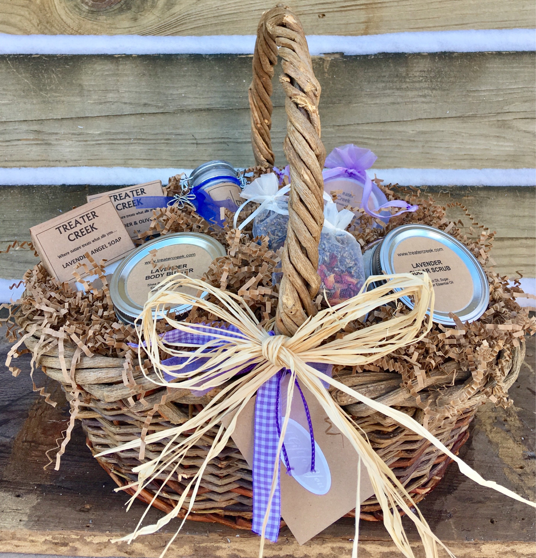 & Lavender Gift Basket - Lavender Essential Oils- Luxury - Spa