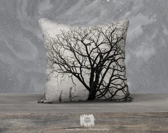 Art Tree Pillow Cover Tree Print Pillow Case Fine Artwork Covering Decor Premium Custom Printed Artist Designed Pillow Case Fine Art