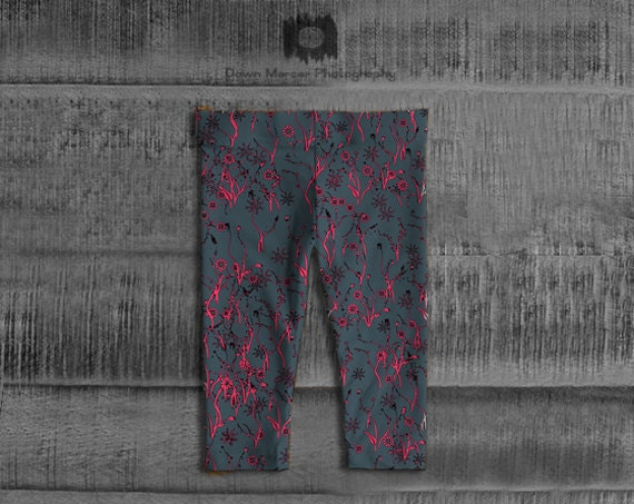Floral Baby Leggings   Baby Girl Tights   Baby Pants