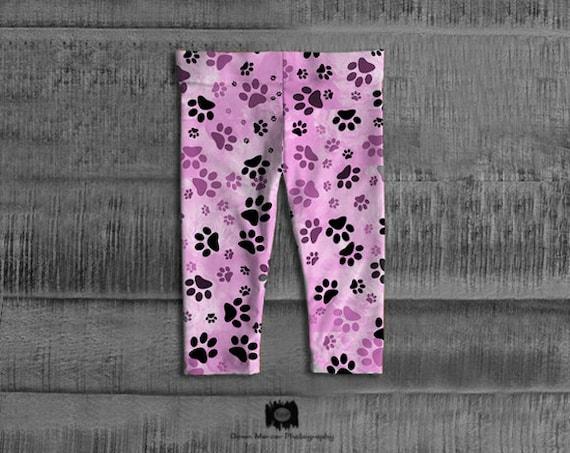 Printed Baby Girl Leggings Infant Girls leggings Cute Baby Girls Leggings Premium Infant Leggings Pink Paw Print Leggings Pink Dog Paw Print