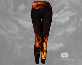 b15c1c3fb7 Flame leggings | Etsy