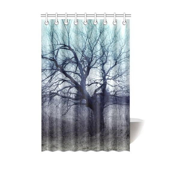 Mystery Tree Shower Curtain Tree Art Printed Shower Curtain Polyester Fabric Custom Printed Artist Designed