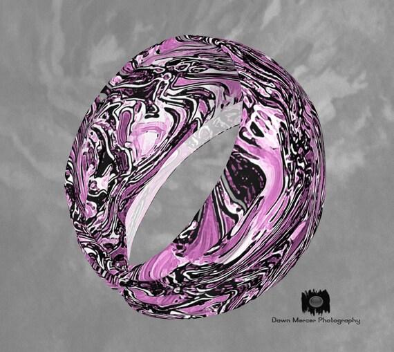 Pink Hair Band Headband Stretchy Headband Pink Abstract Art Print Headband Hair Bandana Pink Neck Scarf, Fashion Accessory Pink Abstract Art