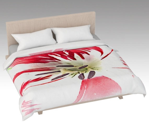 Painted Flower Duvet Cover | Floral Bed Covering