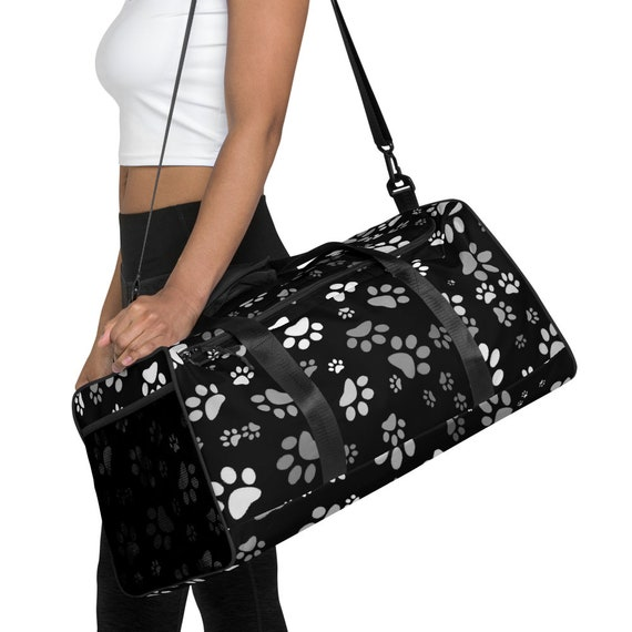 Dog Paw Duffle Bag   Paw Print Duffle Bag