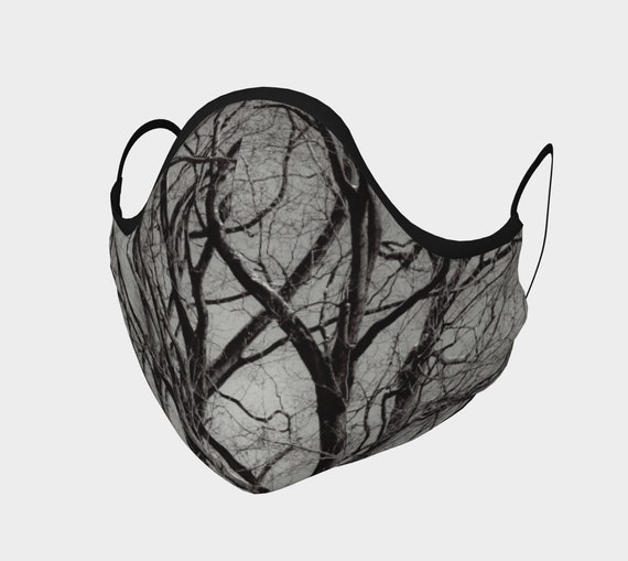 Tree Print Face Mask Printed Face Covering Artist Designed Custom Printed Available In Adult and Youth Sizes