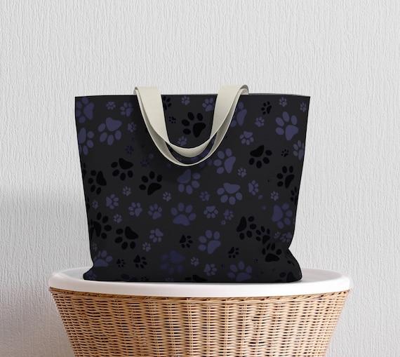 Dog Paws Market Tote | Paw Print Tote Bag | Over The Shoulder Bag | Market Tote Bag