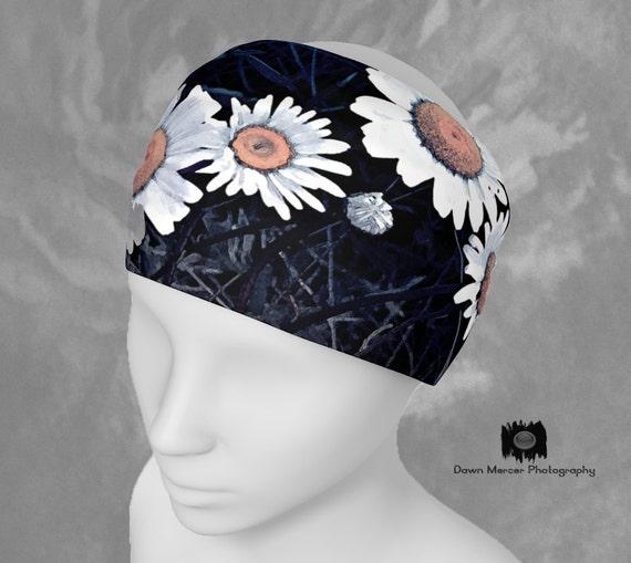 Daisy Headband Flower Headband Floral Headband Flower Art Hairband Floral Bandana Daisy Flower Neck Scarf Art Print Headband Stretchy