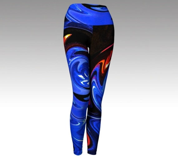 Abstract Leggings | Artsy Tights | Yoga Pants | Workout Wear Womens