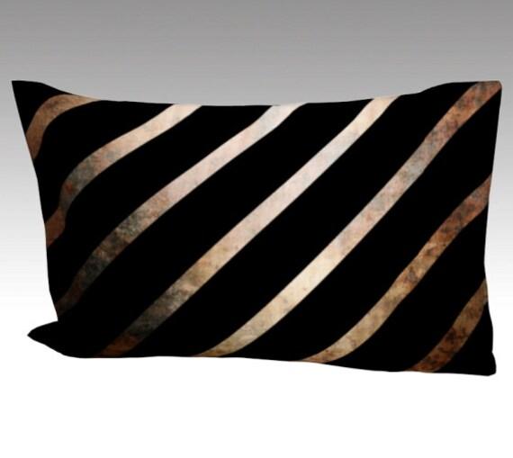Art Stripe Silk Pillow Case | Mulberry Silk Pillowcase | Striped Pillow Cover