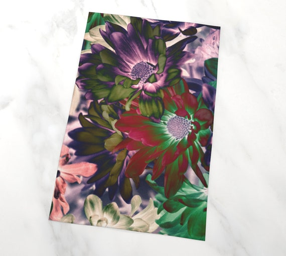 Floral Art Tea Towel Fine Art Kitchen Towel Custom Printed Artist Designed FREE SHIPPING
