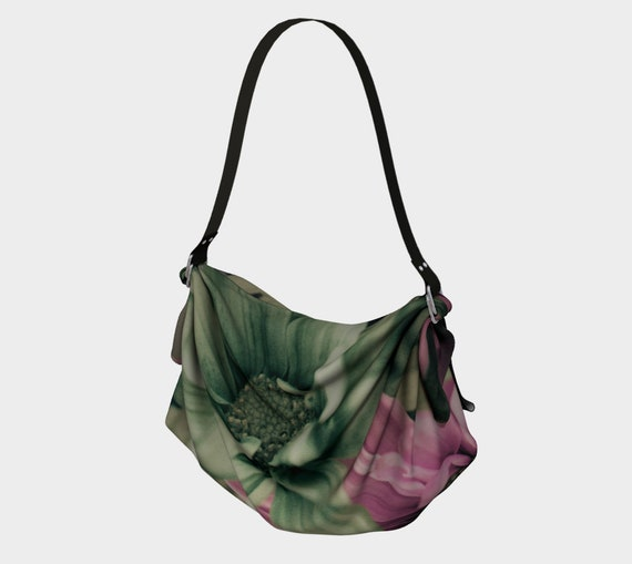 Floral Origami Tote Printed Vintage Daisy Art Origami Tote Bag