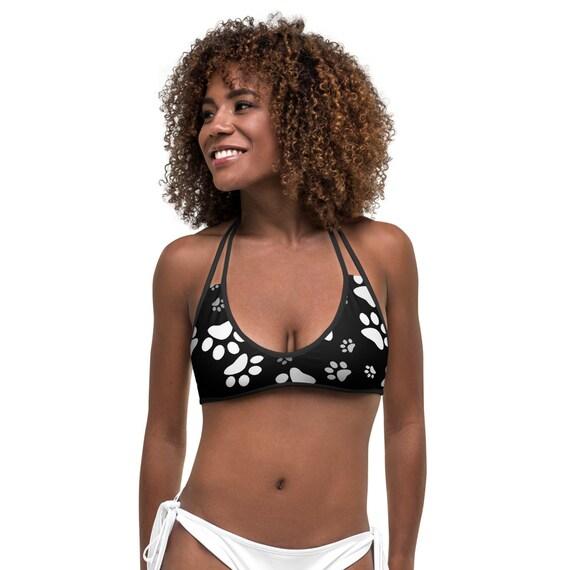 Dog Paw Bikini Top   Paw Print Bikini Top