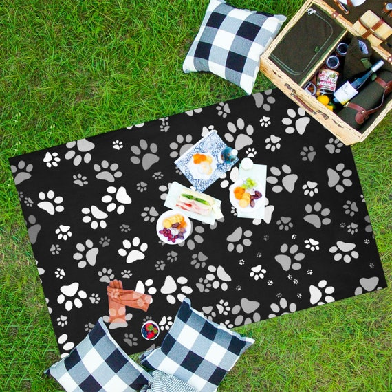 Paw Print Picnic Mat | Dog Paw Waterproof Picnic Mat