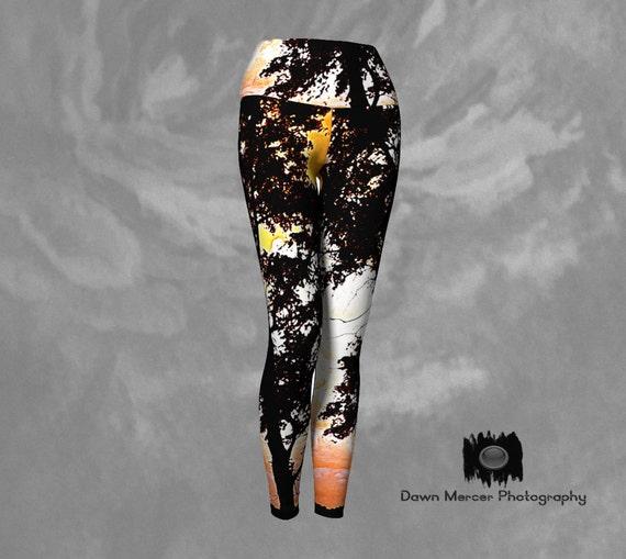 Tree Leggings   Printed Tights   Yoga Pants   Athletic Wear Womens