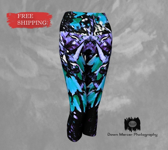 Abstract Capris | Funky Capri Leggings | Yoga Capri