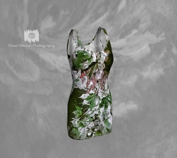 Nature Art Dress | Sleeveless Bodycon Dress | Short Tight Bandage Dress | Mini Dress