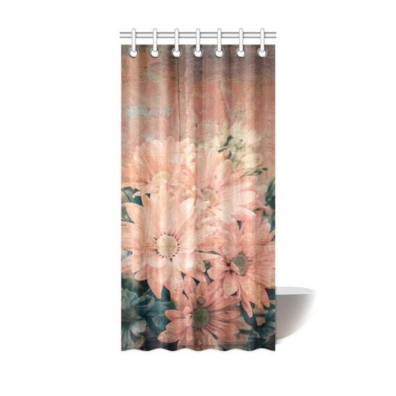 Vintage Daisy Shower Curtain 36 x 72 Daisy Art Print Shower Curtain Polyester Fabric Custom Printed Artist Designed