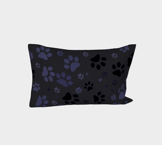 Dog Paws Pillow Case | Paw Print Pillow Cover | Bed Pillow Sleeve