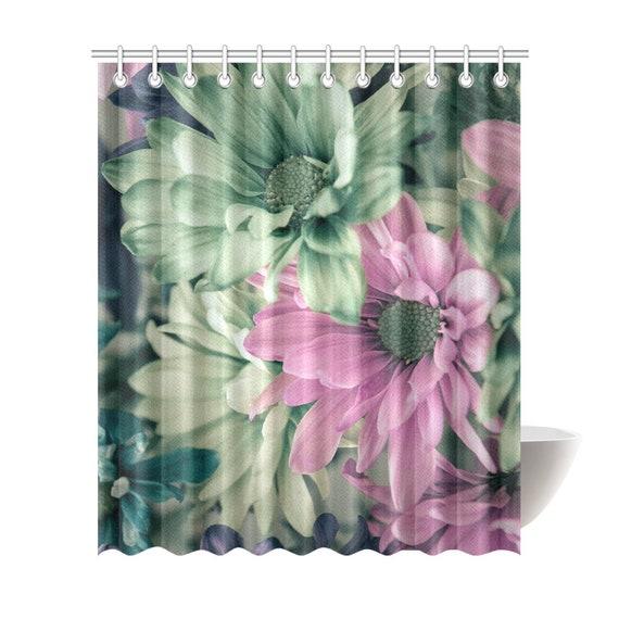Daisy Art Shower Curtain 72 x 84 Daisy Flower Art Print Shower Curtain Polyester Fabric Custom Printed Artist Designed