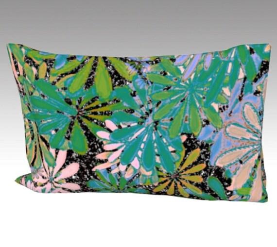 Painted Flowers Silk Pillow Case | Mulberry Silk Pillowcase | Floral Art Pillow Cover