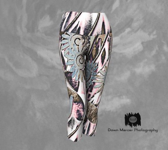 Capri Yoga Leggings | Womens Tights Capris | Printed Capris