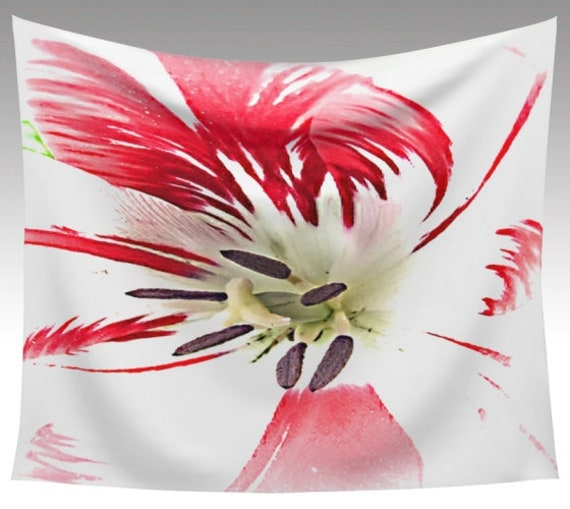 Painted Flower Wall Tapestry | Floral Wall Decor | Wall Hanging