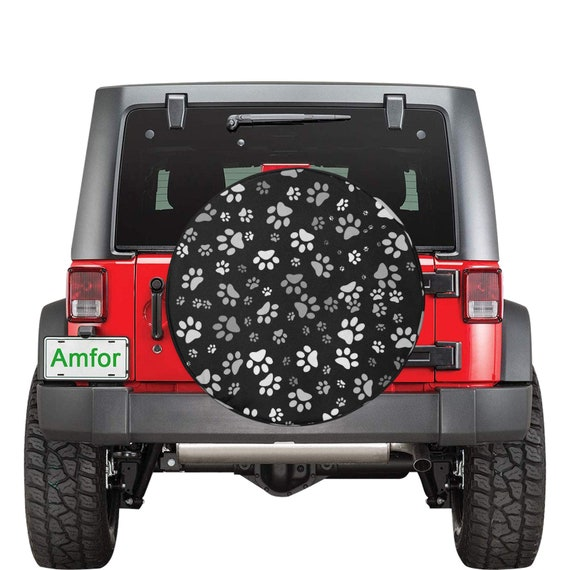 Dog Paw Tire Cover | Paw Print Spare Tire Cover
