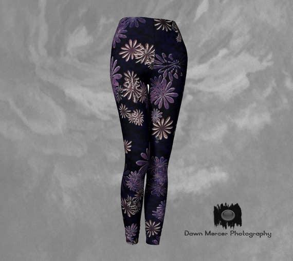 Daisy Leggings | Flower Leggings | High Waist Leggings