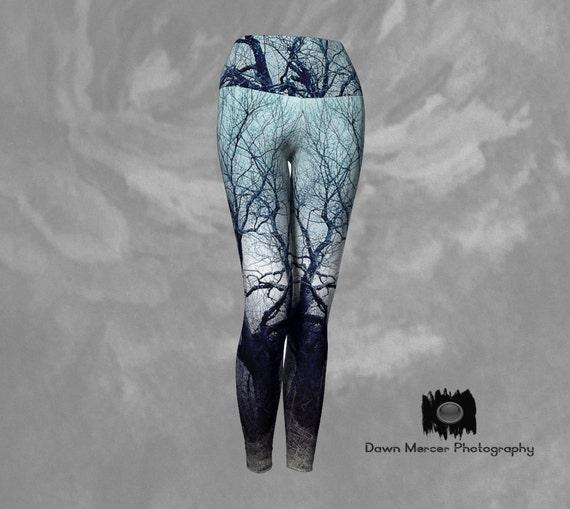 Tree Art Yoga Leggings Printed Art Leggings For Women Custom Printed Artist Designed FREE SHIPPING