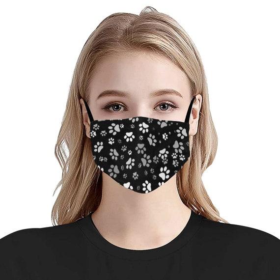 Paw Print Face Mask | Dog Paw Face Mask