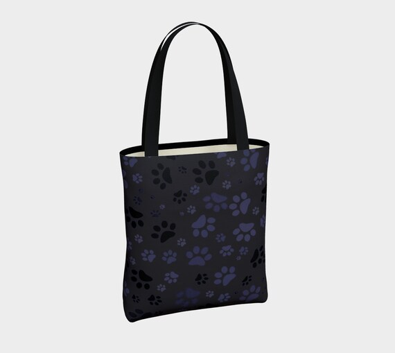 Dog Paws Tote Bag | Paw Print Tote | Basic Tote Bag | Carry-All