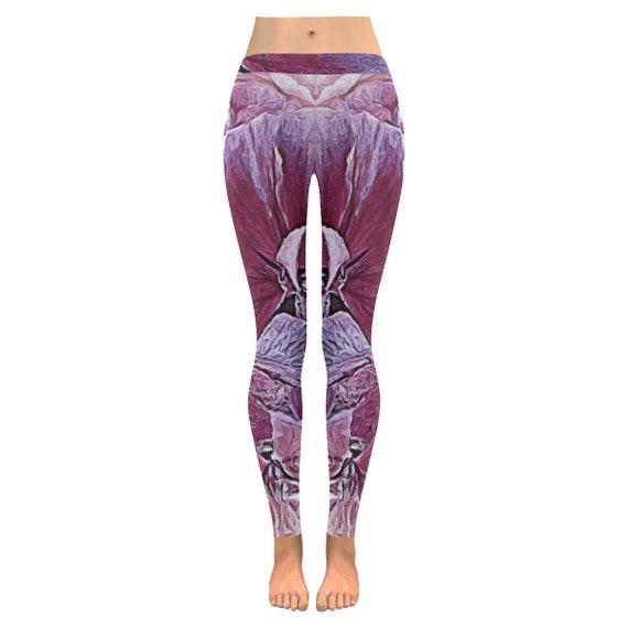Floral Yoga Tights   Flower Leggings   Pink Floral Leggings