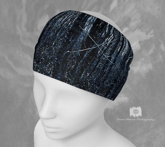 Blue Forest Headband Hairband Tree Art Bandana Stylish Scarf Blue Nature Artwork Head Bands Hair Bands For Women Fashion Accessories