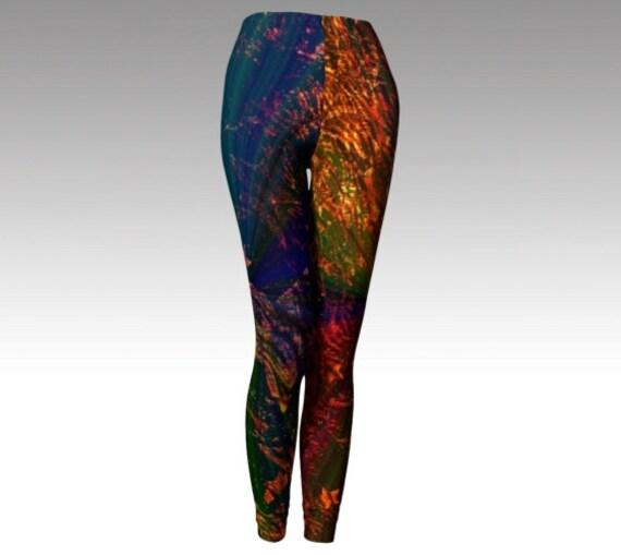 Starry Light Leggings   Womens Printed Leggings   Workout Tights