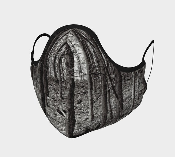 Tree Face Mask Printed Trees Face Covering Artist Designed Custom Printed Available In Adult and Youth Sizes
