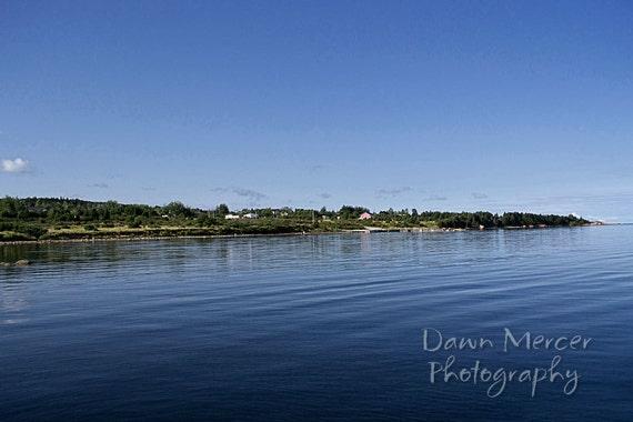 Newfoundland Art Prints, Travel Photography, Scenic Newfoundland, Blue Skies Calm Waters, Fine Art Photography, Landscape Prints