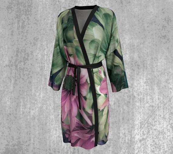 Floral Peignoir Daisy Art Robe For Women