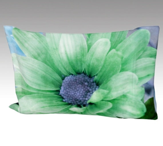 Colored Daisies Pillow Case | Daisy Art Pillow Cover | Daisy Flowers Bed Pillow Sleeve
