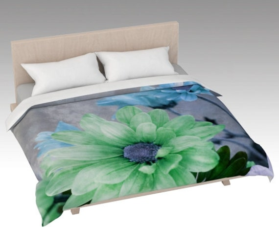 Colored Daisies Duvet Cover | Daisy Art Bed Covering | Daisy Flowers Bed Cover Pink